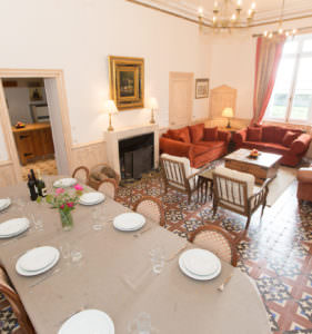 Dining in the Chateau at Chateau de la Vigne, Loire Valley