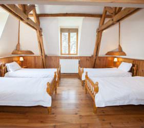 Fabulous 4 bedded room on the chateau top floor at Chateau de la Vigne